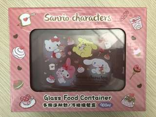 Hello Kitty Glass Food Container