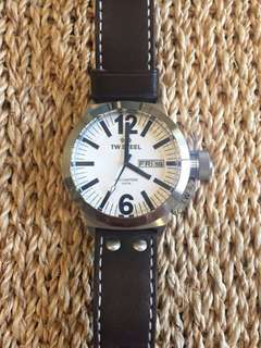 TW Steel CEO Canteen Oversized Watch Brown Strap