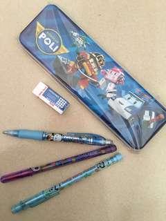 🚚 波力鉛筆盒文具組