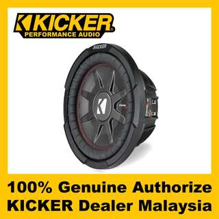 "KICKER CompRT 10"" Dual 2 ohm Shallow Subwoofer, 800W - CWRT102"