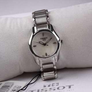 天梭T023海浪系列女士石英腕表