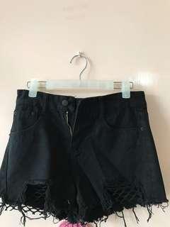 黑色短褲#903