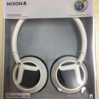 原裝正品尼克松Nixon the trooper 頭戴式耳機(黑白色)