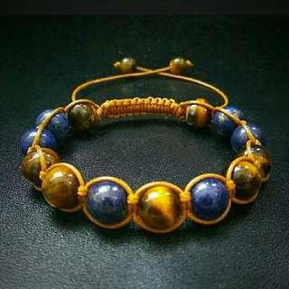 🚚 Tiger Eye Lapis Shamballa Macrame Adjustable Straps Unisex Bracelet Gemstones Healing Yoga Power Stone Shamballa Men Women Birthday Presents