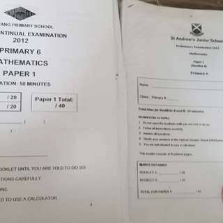 Maths PSLE Practice papers 2012 P6