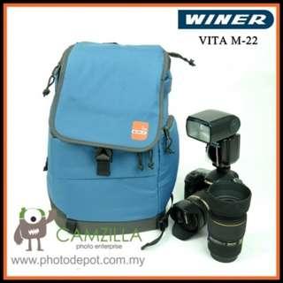 Winer Vita Series M-22 Stylish DSLR Camera Sling Bag Backpack (Blue)