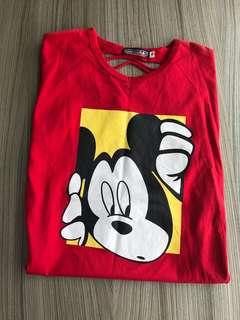 全新 紅米妮T恤上衣(9碼)非外套 嬰兒包屁衣 連身衣 爬服 刷毛 兔裝 背心 洋裝