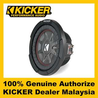 "KICKER CompRT 8"" Dual 2 Ohm Shallow Subwoofer, 600W - CWRT82"