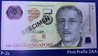 Paying high price for 2AA First Prefix $5 GCT Portrait min 10 runs UNC