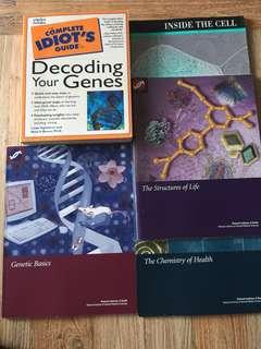 Genetics idiot's guide book bundle of 5 books