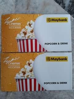 TGV Popcorn & Drink Pass x2