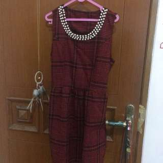 Red pearl dress #horegajian #diskonnih