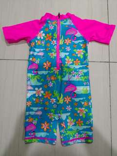 Flamingo pink Swimsuits ( 1-2 years )