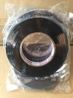 Double sided Pe Foam tape (black/blue liner) size 18mm x 10yds
