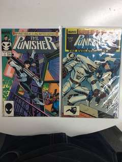 Punisher Comics 1987 Series #1 to #18 plus Annual #1 - Total 19 Comic Books