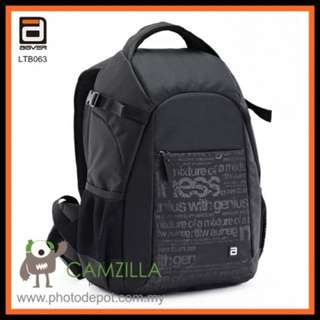 AGVER LTB063 Professional Camera Bag Backpack - Black Color For Canon Nikon Sony Olympus Fuji