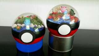 Handmade Pokemon Terrarium Pokeball Diorama