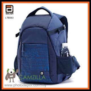 AGVER LTB063 Professional Camera Bag Backpack - Blue Color For Canon Nikon Sony Olympus Fuji