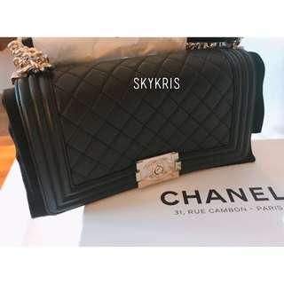 低價🙆🏻🙆🏻BOY CHANEL Calfskin 25cm手袋