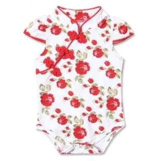 BNWT Beautiful Floral Cheongsam Bodysuit 0-3Months + 3-6 month