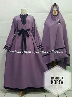 Gamis syari hanbook korea dusty ungu