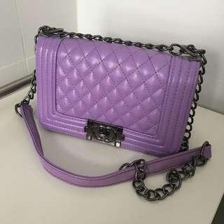 Purple Crossbody Clutch/Bag