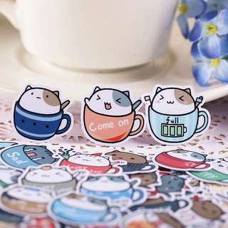 [ST] Bujo Packet: Cup Cat