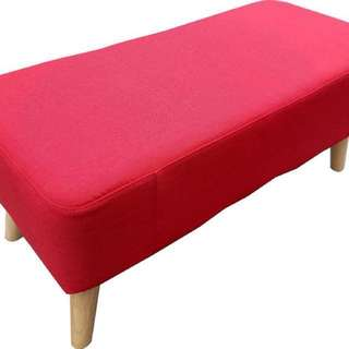 Ottoman Red Cushion Seat/ Bench/ Stool/ Chair