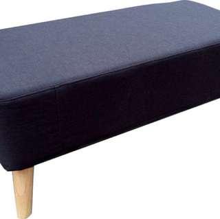 Ottoman Black Cushion Seat/ Bench/ Stool/ Chair