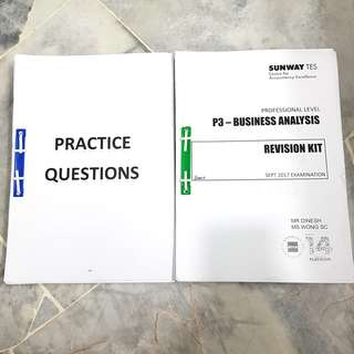 ACCA P3 Revision Kit (Past years with lecturer's answer)