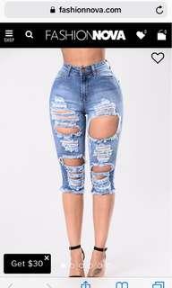 Fashion nova kneeded me shorts