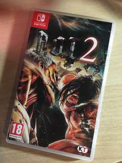 SELL/TRADE Attack on Titan 2 Nintendo Switch