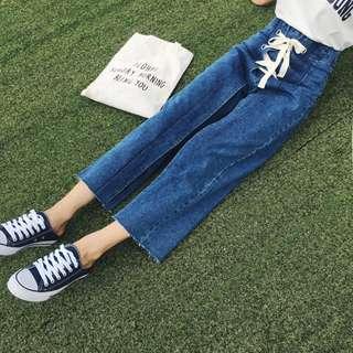 Lace Denim Jeans