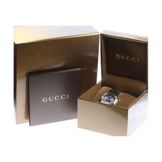 Gucci 124.4 chronograph Titanium QZ genuine breath ladies ★ box · keeping [171224]  (SHIP  FROM  JAPAN)