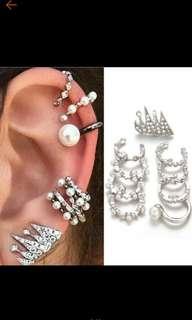 7 pcs fashion SUn and moon earrings set