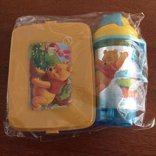 Winnie the Pooh Lunch Box Set (+Gift)
