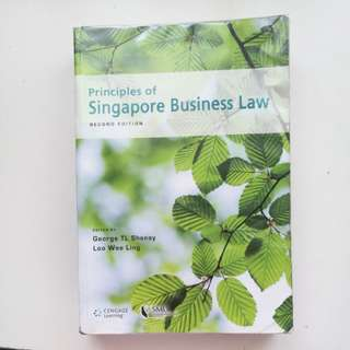 Principles of Singapore Business Law BLAW Textbook
