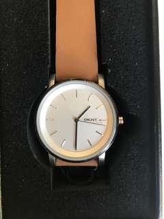 Brand new DKNY tan leather watch
