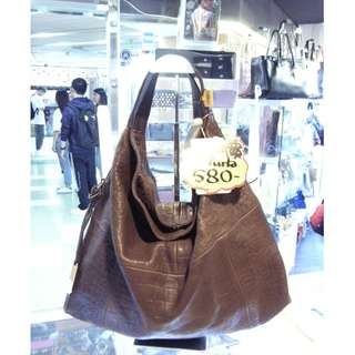 Furla Brown Leather Shoulder Hand Bag 啡色 牛皮 皮革 手挽袋 手袋 肩袋 袋