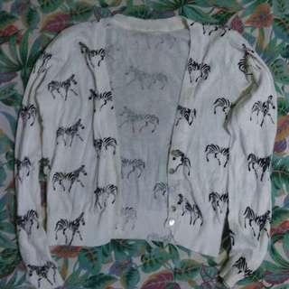 NAVA Crop top with zebra print