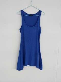 Blue basic dress