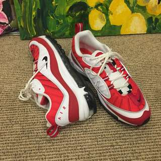 Nike Air Max 98 Size 9 Gym Red (Valentines edition)