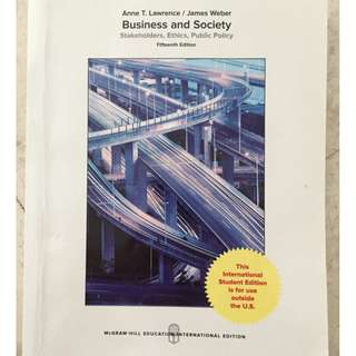 Business Government and Society BGS SMU Textbook McGraw 15th edition
