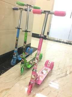 兒童玩具鐵三輪可摺疊可升降 腳踏滑板車 平衡車 兒童玩具 早教益智 scooter/ bike/ baby toy/bicycle 廠家批發直銷 荃灣實體店