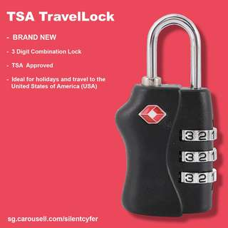BNIB TSA TravelLock 3 Digit Combination Lock