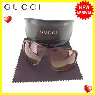 Gucci sunglasses glasses ladies square type GG2537 / S clear pink × gold plastic × gold  (SHIP FROM JAPAN)