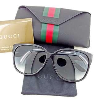 GUCCI sunglasses eyewear women's  double G sherry line black T4034 (SHIP FROM JAPAN)