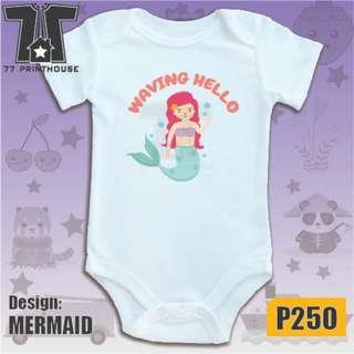 Mermaid Design Baby Onesie