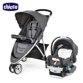 Chicco Viaro運動版三輪推車+KeyFit手提汽座