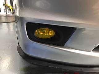 Honda stream foglight yellow tint